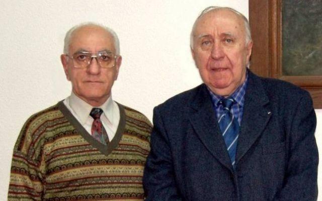 Domnul Ion Măldărescu cu prietenul nostru regretatul savant Gheorghe Buzatu