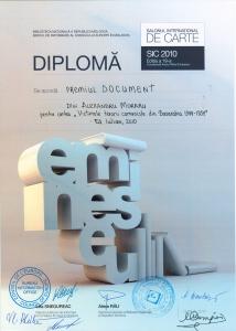 Diploma al Salonului International de Carte 2010