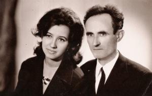 Tatăl Valeriu Ion Moraru cu sora mea Silvia