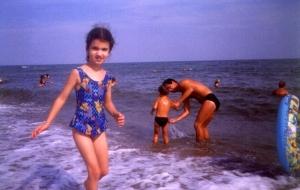 Laura Moraru la Marea Neagra