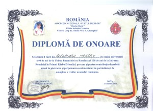 Diploma CULTUL EROILOR 001